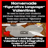 "Student Homemade Classroom ""Figurative Language"" Valentines"