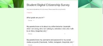 Students - Digital Safety & Citizenship Survey