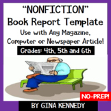 Nonfiction Book Report for any Magazine, Newspaper or Computer Article