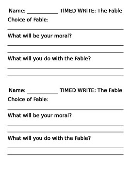 Fable: Student's Choice