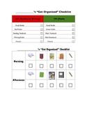 """Student's """"Get Organized"""" Checklist"""