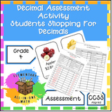 Comparing Decimals (Students Shop To Compare Prices) Asses