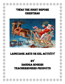K-3 Poetry Illustration: 'Twas The Night Before Christmas (CCSS Aligned)
