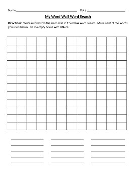 Students Make Word Searches