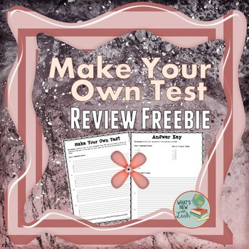 Students Make a Test Review Freebie