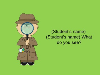 (Student's Name) (Student's Name) What Do You See?-Animals