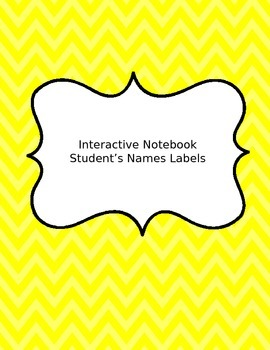 Students' Name Tags