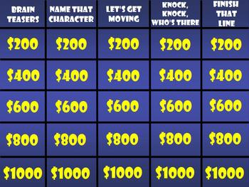 """Students Need a """"Brain Break?"""" Fun Jeopardy Game Brain Teasers, Movement, & More"""