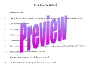 Students Research Various Viral Diseases
