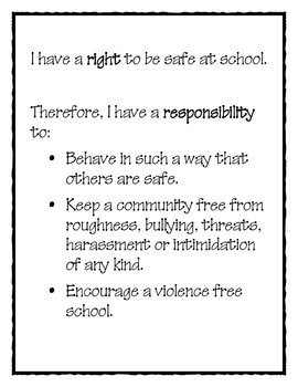 Student's Rights and Responsibility