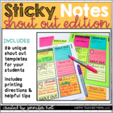 Student Shout Outs Sticky Note Templates