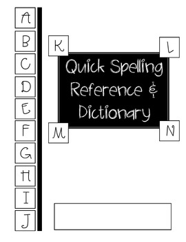Student's Spelling Dictionary & Word Tracker