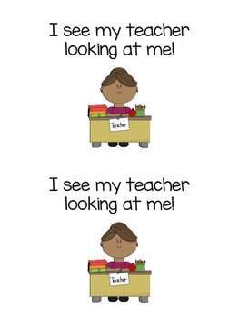 Students, Students What do you see? {back to school emergent reader}