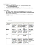 Students Teach the Class Rubric Requirements and Graphic O