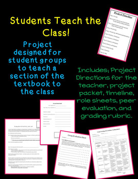 Students Teach the Class - for use with textbook sections