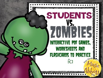 Students VS. Zombies!!!  Interactive PDFs, Flashcards & Worksheets for {fa}