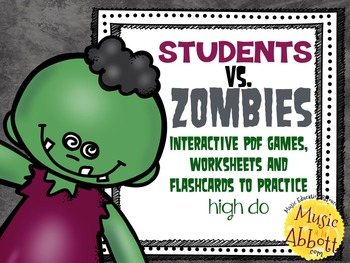 Students VS. Zombies!!!  Interactive PDFs, Flashcards & Wo