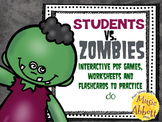 Students VS. Zombies!!!  Interactive PDFs, Flashcards and