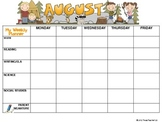 Student's Weekly Planner