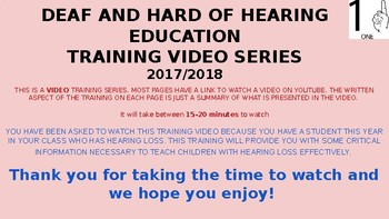 Students Who are Deaf/Hard of Hearing Teacher Training