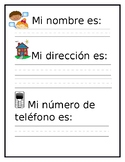 Students address and phone number (Spanish)