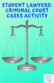Student Lawyers: Criminal Court Cases with PowerPoint CCSS