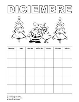 Student calendar (Spanish) / Calendario para los estudiantes (español)