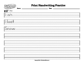 Students can Print Handwriting Paper