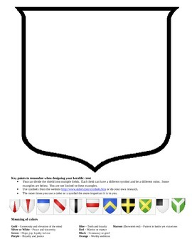 Students design their own Coat of Arms