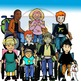 Students in Wheelchairs 16 Piece Clip-Art Set! 8 BW/8 Color!