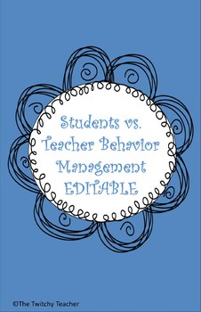Students vs Teacher Behavior Management Game *Editable and Color or BW