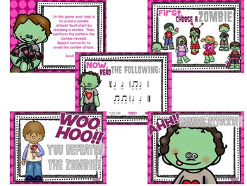 Students vs. Valentine Zombies {27 interactive games for Melodic Practice}