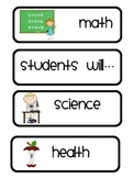 Students will...objective labels