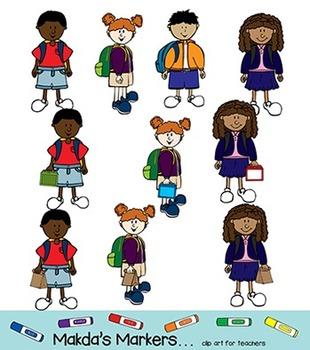 Students with Backpacks - Ready for Rigorous Learning (color)