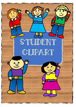 Students with Hands Up clipart - introductory price... BARGAIN!