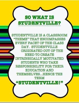 Studentville Themed Classroom