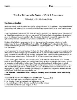 Studies Weekly 1850 to the Present Week 1 Assessment