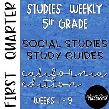 Studies Weekly 5th Grade Study Guides Weeks 1-9  |  California