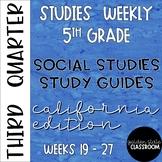Studies Weekly 5th Grade Study Guides Weeks 19-27  |  California