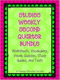 Studies Weekly Second Quarter Bundle - Vocab, Questions, S