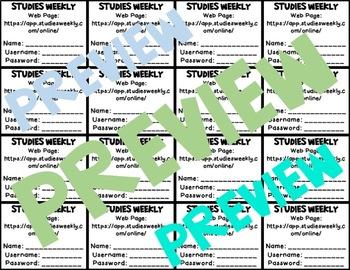 Studies Weekly Login Cards