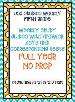 Studies Weekly Study Guides and Tests - FULL YEAR Weeks 1-28 NO PREP BUNDLE