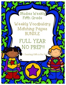 Studies Weekly Vocabulary Matching Pages FULL YEAR BUNDLE - NO PREP
