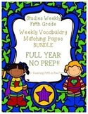 Studies Weekly Vocabulary Matching Pages FULL YEAR BUNDLE