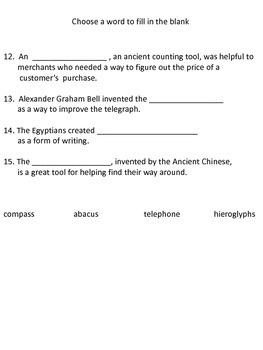 Studies Weekly Weeks 10 & 11 Test  - Third Grade