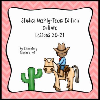 Studies Weekly (Weeks 19-20)- Texas Edition-3rd Grade