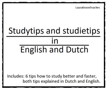 Studytips in English and Dutch