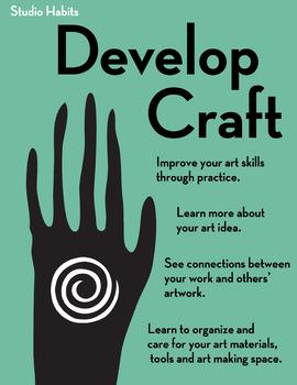 Studio Habits Poster: Develop Craft