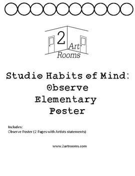 Studio Habits of Mind: Observe Poster
