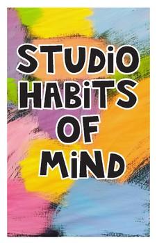 Studio Habits of Mind Poster -Brushstrokes